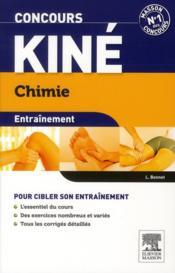 ENTRAINEMENT ; concours kiné ; chimie ; QCM et exos (3e édition) - Couverture - Format classique