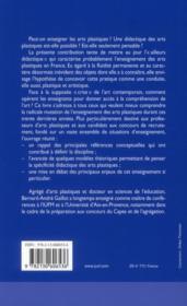 Arts plastiques ; éléments d'une didactique-critique - 4ème de couverture - Format classique