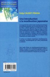 Une introduction à la moxibustion japonaise - 4ème de couverture - Format classique