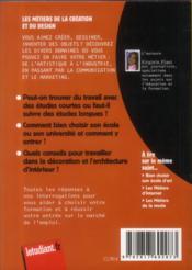 Les métiers de la création et du design - 4ème de couverture - Format classique