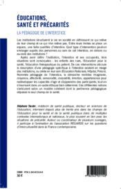 Éducations, santé et précarités ; la pédagogie de l'interstice - 4ème de couverture - Format classique