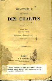 Bibliotheque De L'Ecole Des Chartes - Deuxieme Serie - Tome 5 - Novembre Decembre - Couverture - Format classique