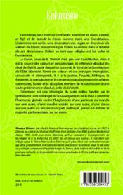 L'islamisme t.1 ; la question idéologique, l'humanisme - 4ème de couverture - Format classique