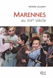 Marennes au XIXe siècle - Couverture - Format classique
