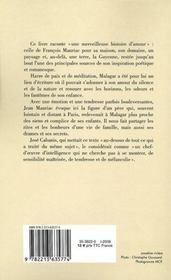 François Mauriac à Malagar - 4ème de couverture - Format classique