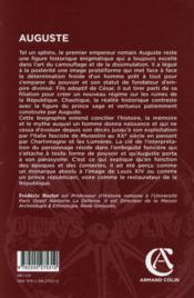 Auguste ; les ambiguïtés du pouvoir - 4ème de couverture - Format classique