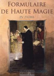 Formulaire de haute magie - Couverture - Format classique