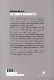 Le corps du héros - 4ème de couverture - Format classique