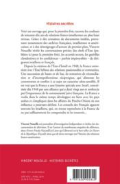 Histoires secrètes ; France-Israël, 1948-2018 - 4ème de couverture - Format classique