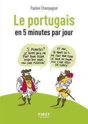 Le portugais en 5 minutes par jour - Couverture - Format classique