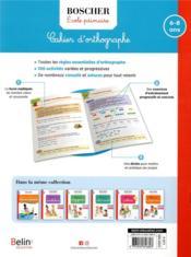 Cahier d'orthographe - 4ème de couverture - Format classique