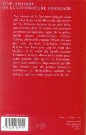 Une histoire de la littérature française - 4ème de couverture - Format classique