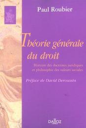 Theorie generale du droit - Intérieur - Format classique