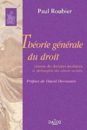 Theorie generale du droit - Couverture - Format classique