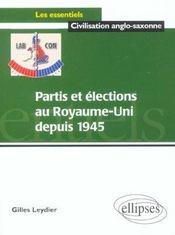 Partis Et Elections Au Royaume-Uni Depuis 1945 - Intérieur - Format classique