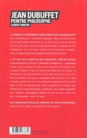 Jean Dubuffet - 4ème de couverture - Format classique