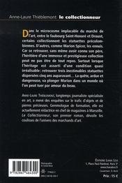 Le collectionneur - 4ème de couverture - Format classique