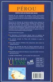 Guide Ulysse ; Perou - 4ème de couverture - Format classique