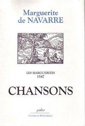 Les marguerites 1547 ; chansons - Intérieur - Format classique