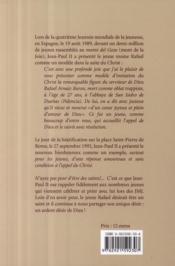 Dieu seul ! l'ardent désir d'un jeune moine ; biographie spirituelle du Bienheureux Rafaël - 4ème de couverture - Format classique