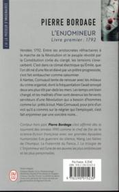 L'Enjomineur T.1 ; 1792 - 4ème de couverture - Format classique
