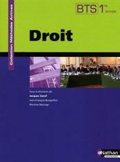 Méthodes actives ; droit ; BTS 1ère année ; livre de l'élève (édition 2009) - Couverture - Format classique