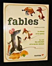 Fables, le lièvre et la tortue, le rat des champs et le rat de maison - Couverture - Format classique