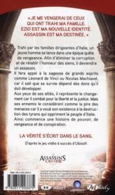 Assassin's Creed ; renaissance - 4ème de couverture - Format classique