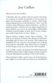 Josy coiffure ; aux racines de la marseillitude - 4ème de couverture - Format classique