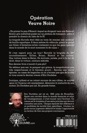 Operation Veuve Noire - 4ème de couverture - Format classique