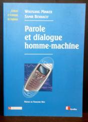 Reconnaissance Vocale Et Dialogue Homme-Machine - Couverture - Format classique