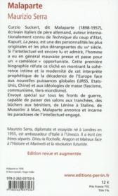 Malaparte - 4ème de couverture - Format classique