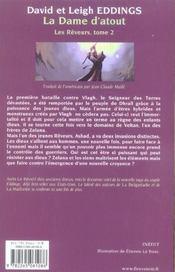 La Dame D'Atout - 4ème de couverture - Format classique