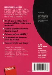 Les métiers de la mode - 4ème de couverture - Format classique