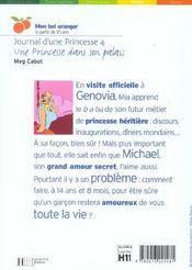 Journal D'Une Princesse T.4 ; Une Princesse Dans Son Palais - 4ème de couverture - Format classique