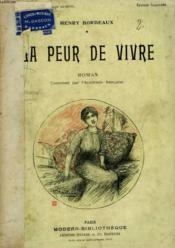 La Peur De Vivre. Roman. Collection Modern Bibliotheque. - Couverture - Format classique