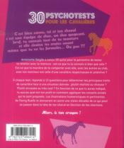30 psychotests pour les cavalières - 4ème de couverture - Format classique