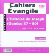 Cahiers de l'Evangile N.130 ; l'histoire de Joseph - Couverture - Format classique