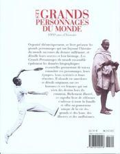 Les Grands Personnages Du Monde ; 1000 Ans D'Histoire ; Un Millenaire De Personnes Celebres - 4ème de couverture - Format classique