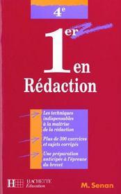 Premier En Redaction En 4e - Intérieur - Format classique