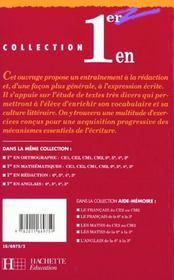 Premier En Redaction En 4e - 4ème de couverture - Format classique