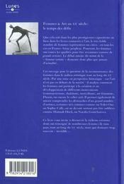 Femmes & art au XXe siècle ; le temps des défis - 4ème de couverture - Format classique