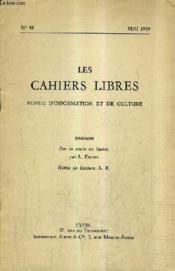 LES CAHIERS LIBRES REVUE D'INFORMATION ET DE CULTURE N°48 MAI 1959 - Sur la route en lacets - Notes de lecture. - Couverture - Format classique
