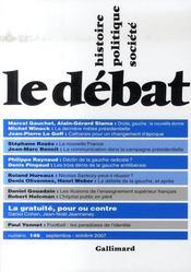 Revue Le Débat N.146 ; septembre-octobre 2007 - Intérieur - Format classique