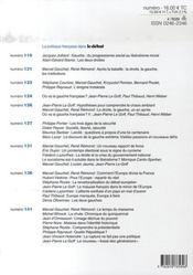 Revue Le Débat N.146 ; septembre-octobre 2007 - 4ème de couverture - Format classique