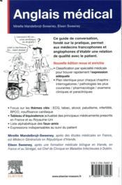 Anglais médical ; guide pratique de la conversation médicale (5e édition) - 4ème de couverture - Format classique