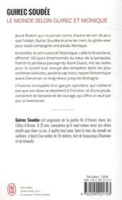 Le monde selon Guirec et Monique ; un marin, une poule, un incroyable voyage - 4ème de couverture - Format classique