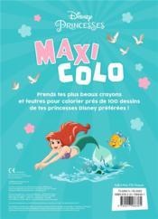 Maxi colo ; Disney Princesses - 4ème de couverture - Format classique