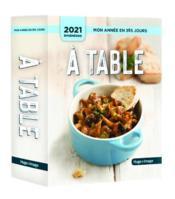 Mon année ; à table ! (édition 2021) - Couverture - Format classique
