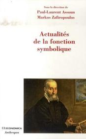 Actualités de la fonction symbolique - Intérieur - Format classique